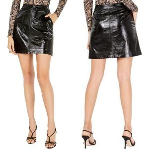 Minkpink Faux Leather Mini A-Line Skirt Size M NWT